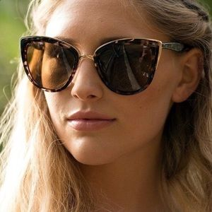 Quay My Girl Sunglasses In Tortoise